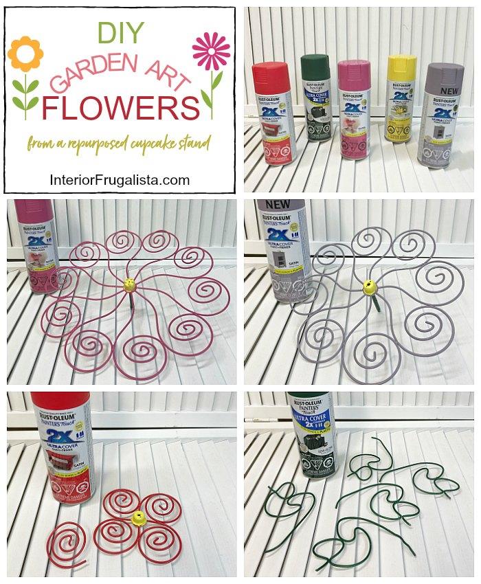 DIY Garden Art Flowers