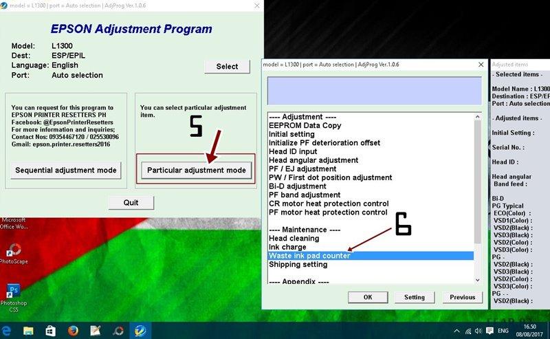 Cara Reset Epson L1300 Dengan Resetter 100 % Berhasil - BEDAH PRINTER