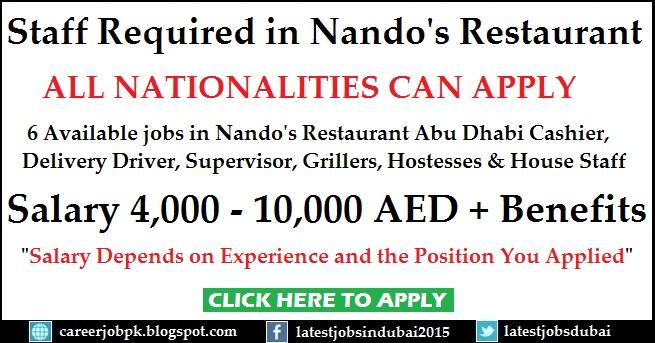 Nandos Dubai Careers For Restaurant Staff Vacancies Apply Online