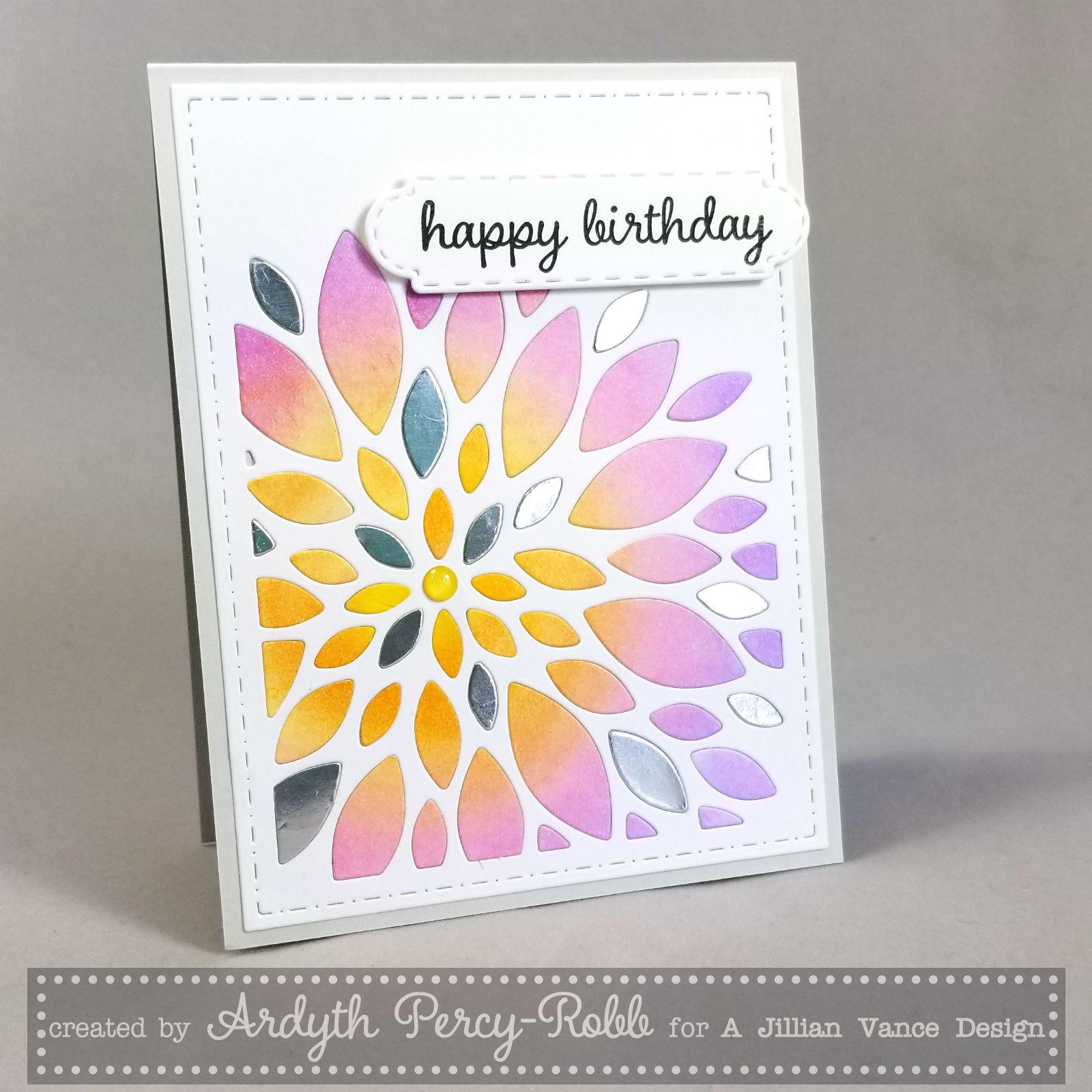 A Jillian Vance Design Flower Burst Birthday