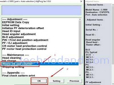 Tutorial Reset Printer Epson L1800 dengan Mudah Menggunakan Reseter [ Download reseter L1800 ]