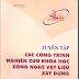 SÁCH SCAN - Tuyển tập các công trình nghiên cứu khoa học công nghệ vật liệu xây dựng 1999 - 2004 (VIỆN VẬT LIỆU XÂY DỰNG)