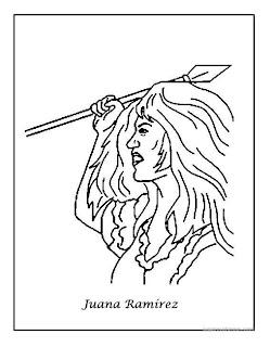 colorear Juana Ramirez