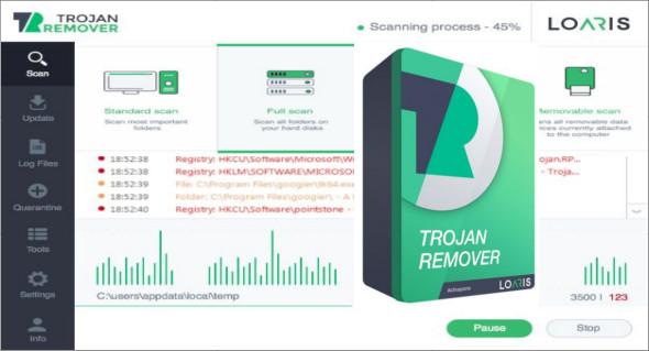 برنامج الرائد في إزالة ملفات التجسس بكل أنواعها Loaris Trojan Remover
