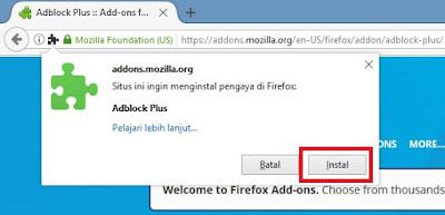 Instal - Cara Menghilangkan Iklan di Browser Mozilla Firefox
