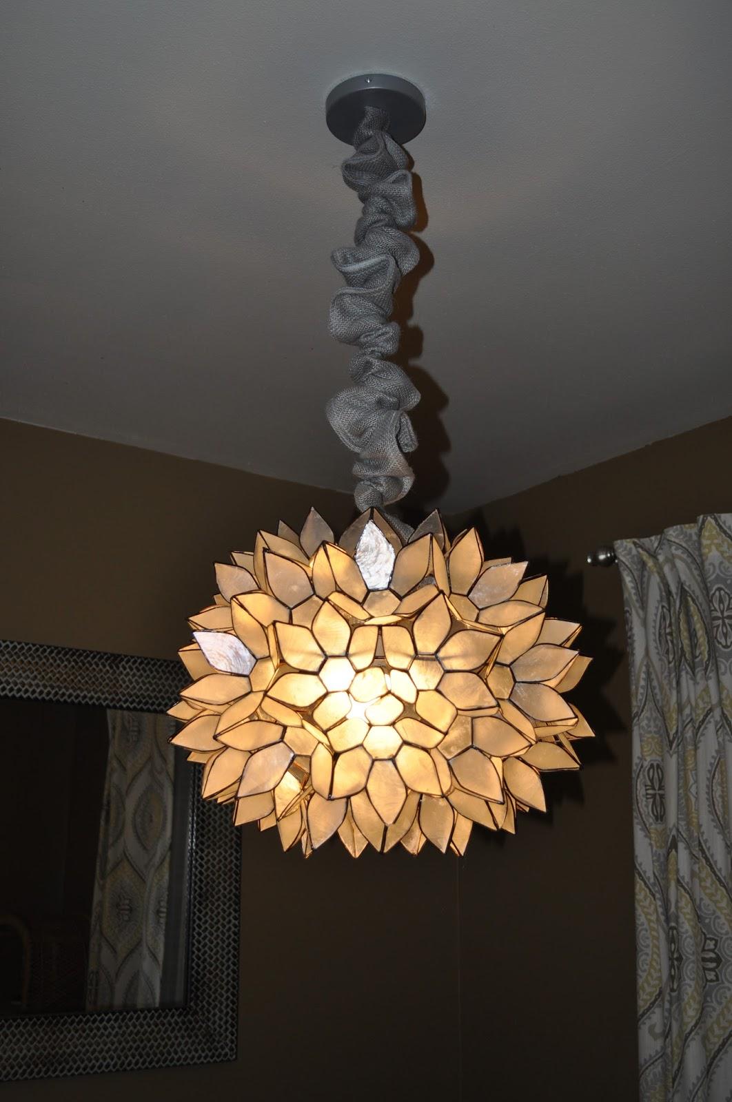carri us home fixing a broken capiz light. Black Bedroom Furniture Sets. Home Design Ideas