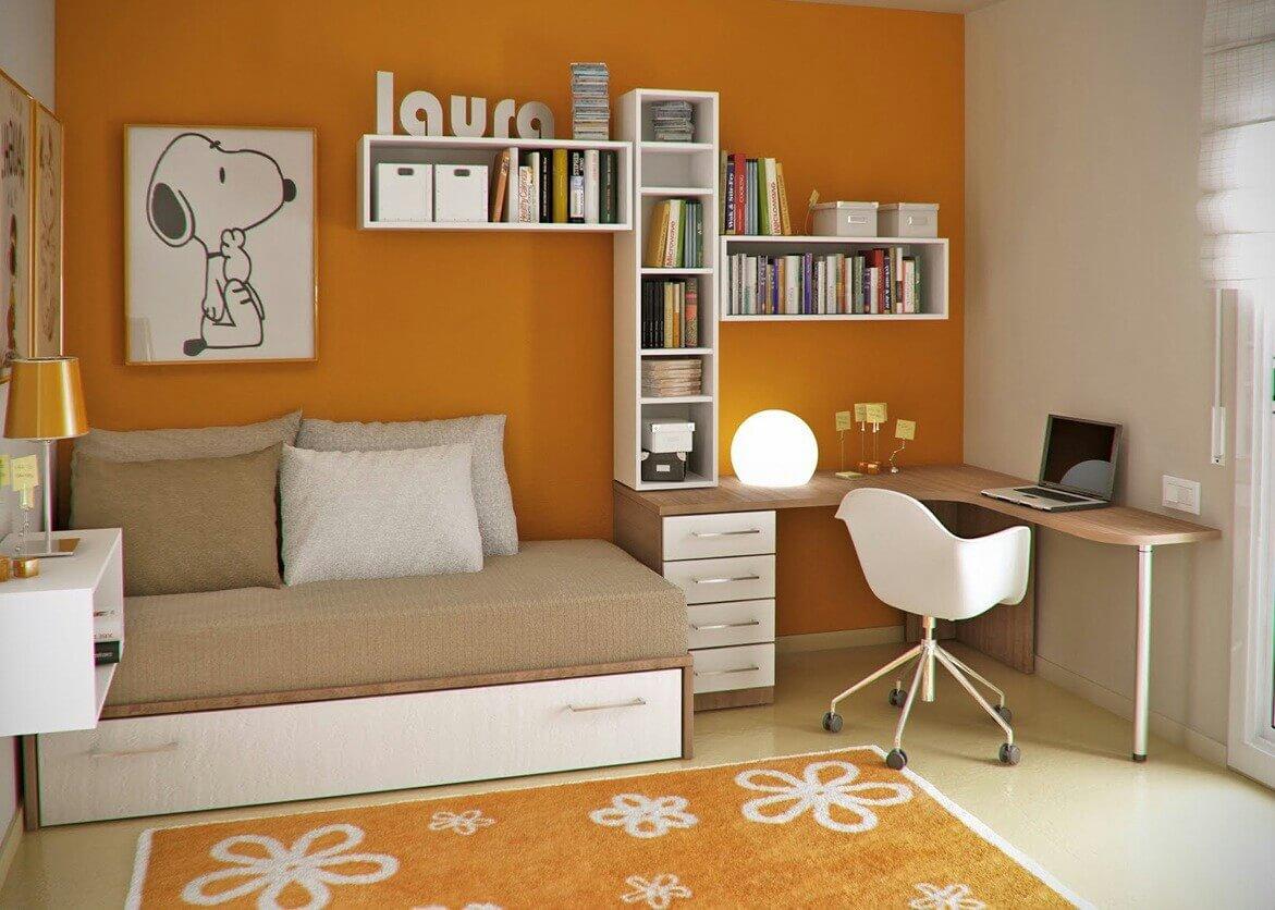 52 Desain Kamar Tidur Sederhana Ukuran Kecil Dengan Model