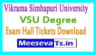 Vikrama Simhapuri University VSU Degree Instant Exam Hall Tickets