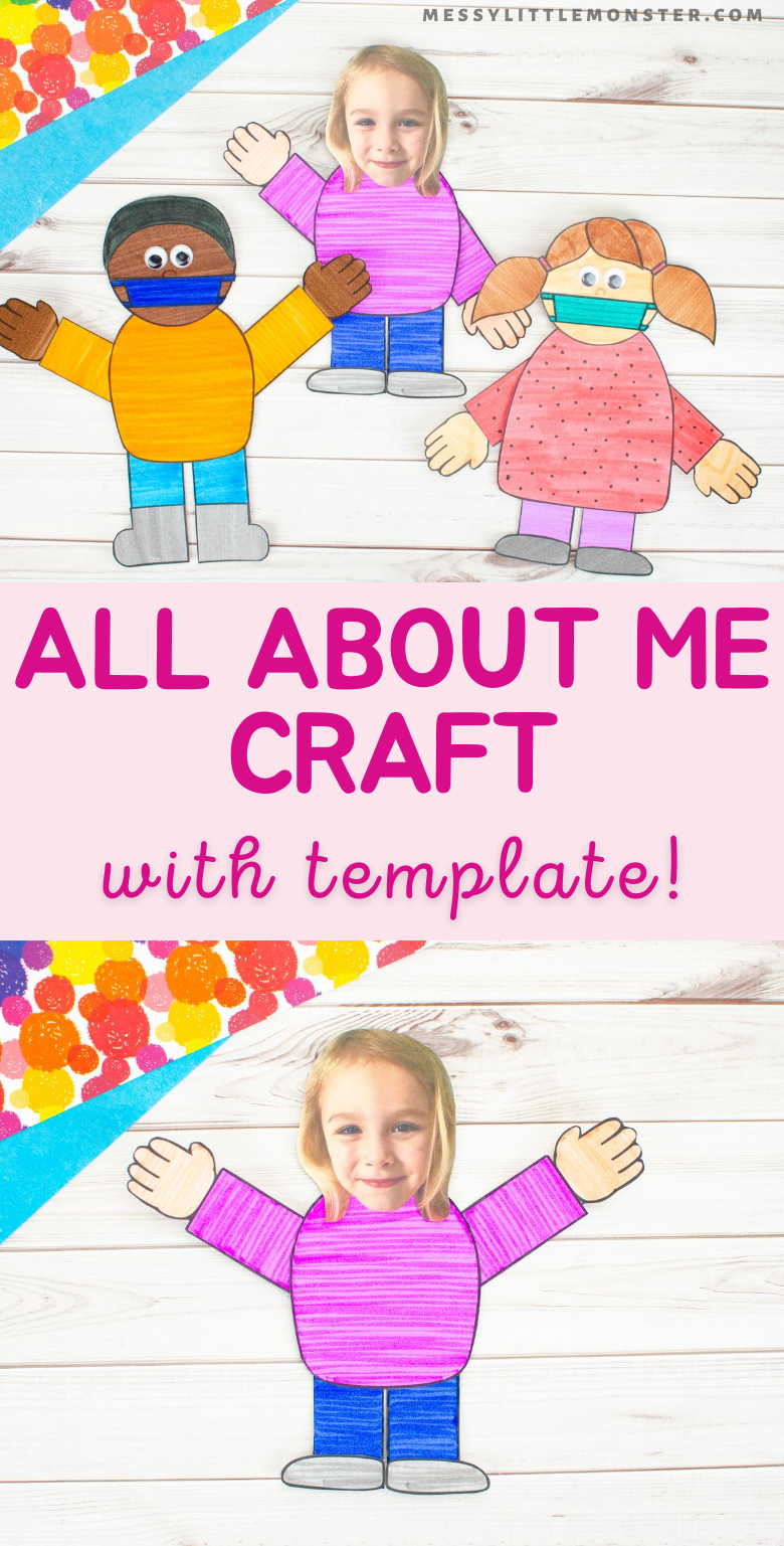 All about me craft with template. A fun back to school craft for kids.