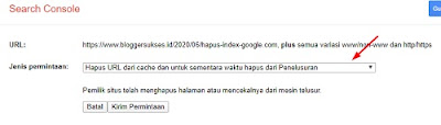 cara mengahpus permanen artikel di google