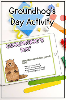 Three FREE groundhogs day activities to use with grade 4 5 6 students