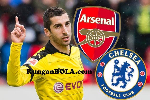 Antara Chelsea dan Arsenal, Mkhitaryan Pilih Siapa?