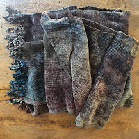 Mayan Hands Chenille Scarf