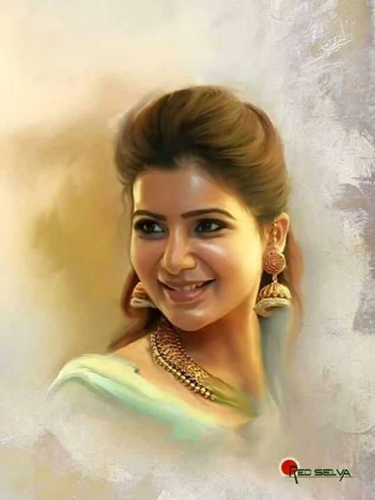 Actress Cute Painting