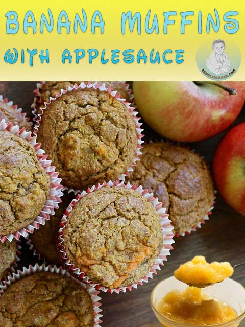 Banana muffins; Applesauce banana muffins; Banana muffins recipes; Banana muffins with applesauce recipe; oatmeal muffins with banana