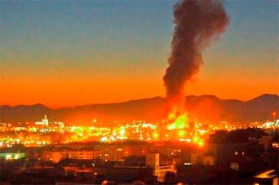 Fotos de la explosión de petroquímica en Tarragona