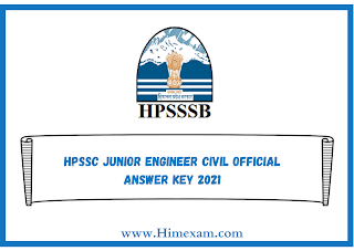HPSSC Junior Engineer Civil Official Answer Key 2021