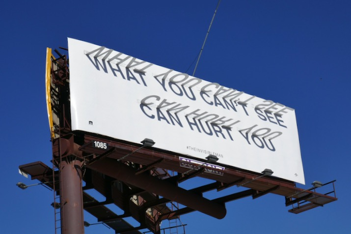 Invisible Man shadow sundial billboard