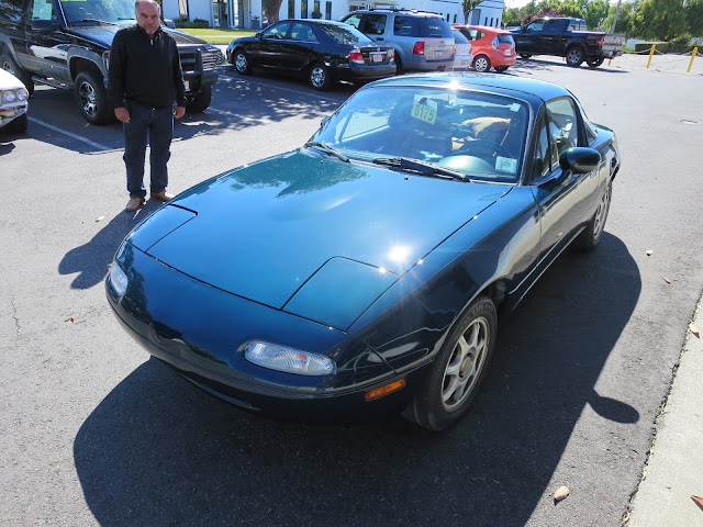 1997 MX5 Miata with new auto paint from Almost Everything Auto Body