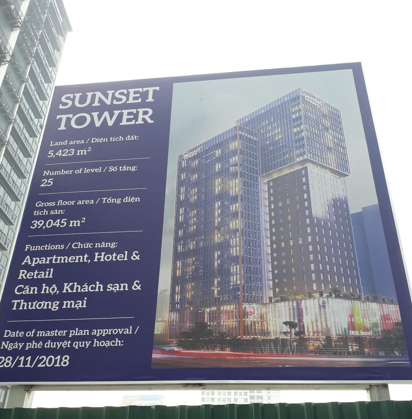Bảng biển dự án Sunset Tower Phú Thượng.