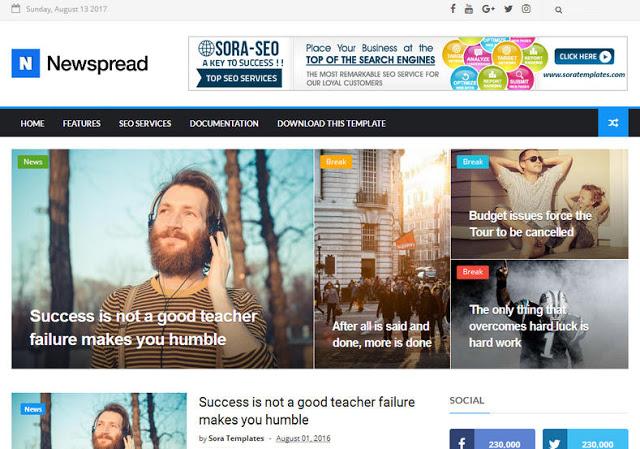 New Spread mobile friendly blogger