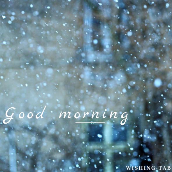 Good morning in winter