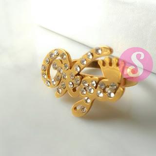 cincin nama lapis emas permata - vega