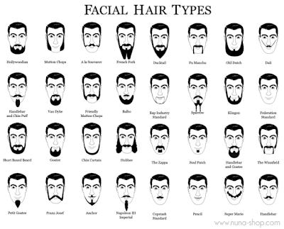 Moustache dan Beard Style - Jenis Jambang, Kumis, dan Jenggot