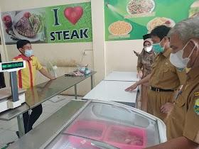 Sidak Toko Daging, PJ.Sekda Muaro Jambi Sebut kualitas Daging Beku Baik dan hallal