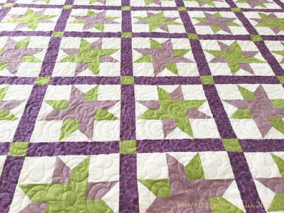 Interwoven Stars Quilt made by Sian Fisher