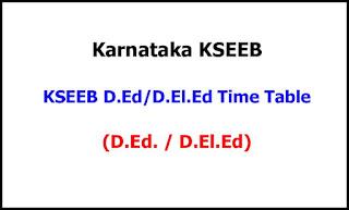 Karnataka Ded Deled Exam Time Table 2021