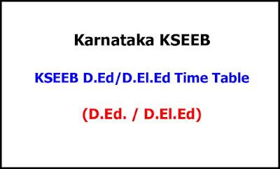 Karnataka Ded Deled Exam Time Table