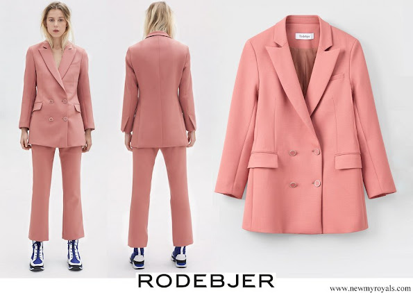 Crown Princess Victoria wore Rodebjer Nera Pink Suit