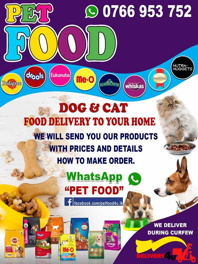 Pet food delivery to your home.