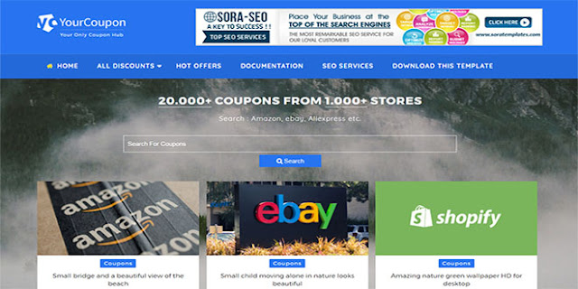 Your Coupon Blogger Template  High Quality Free Blogger Templates free download in hindi 2018
