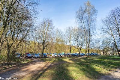 Parking w Truskawiu, obłożenie jak w długi weekend