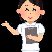 ショートカットの女性看護師のイラスト