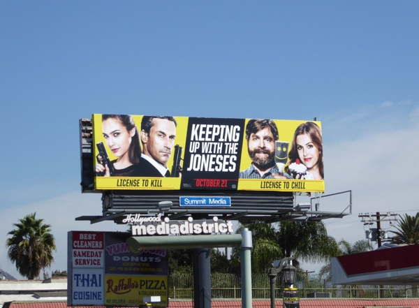 Keeping Up With The Joneses movie billboard