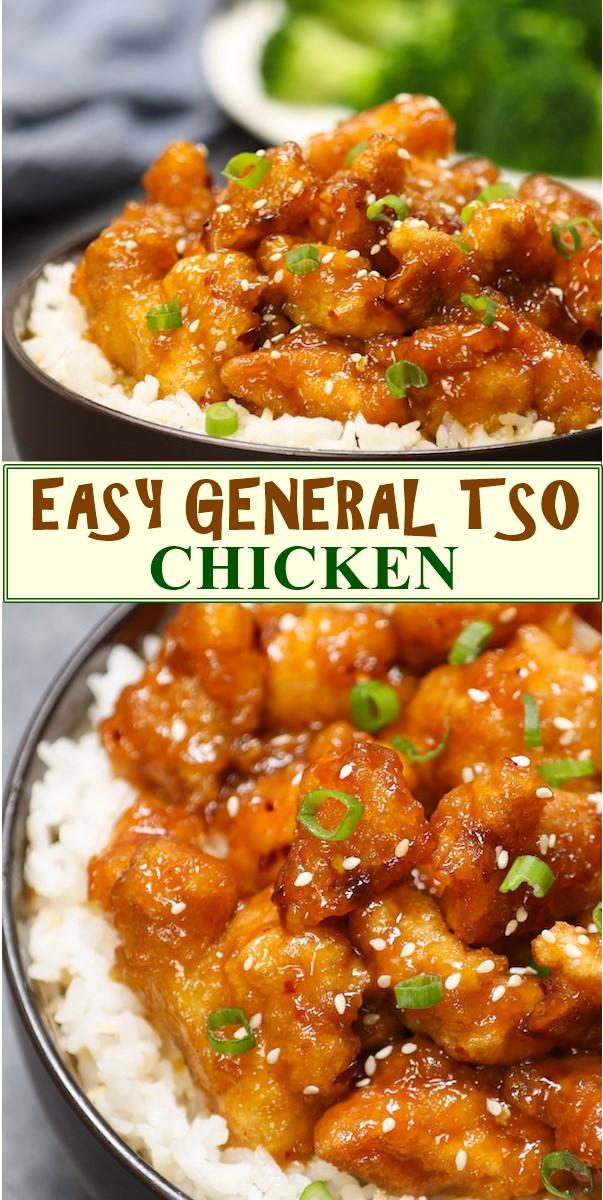 EASY GENERAL TSO CHICKEN #chickenrecipes