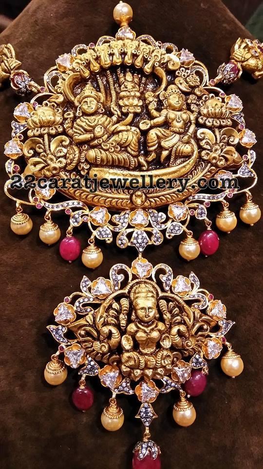 Lord Krishna Lakshmi Pendant