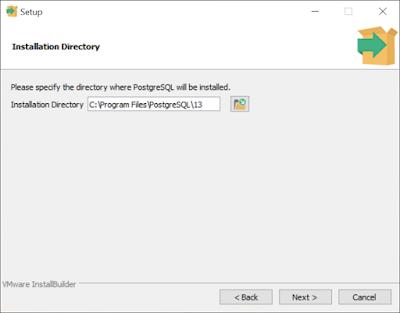 PostgreSQL installation