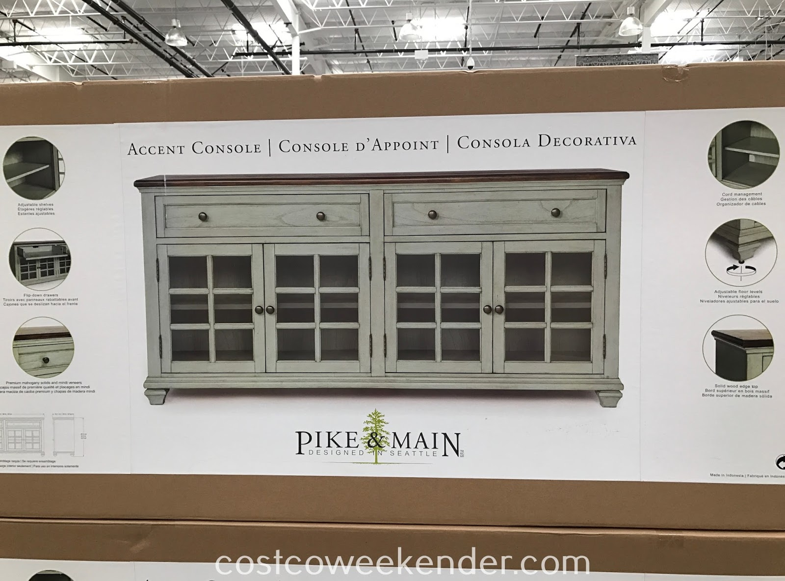 Costco 1041176 - Pike & Main Accent Console: great for any living room or family room