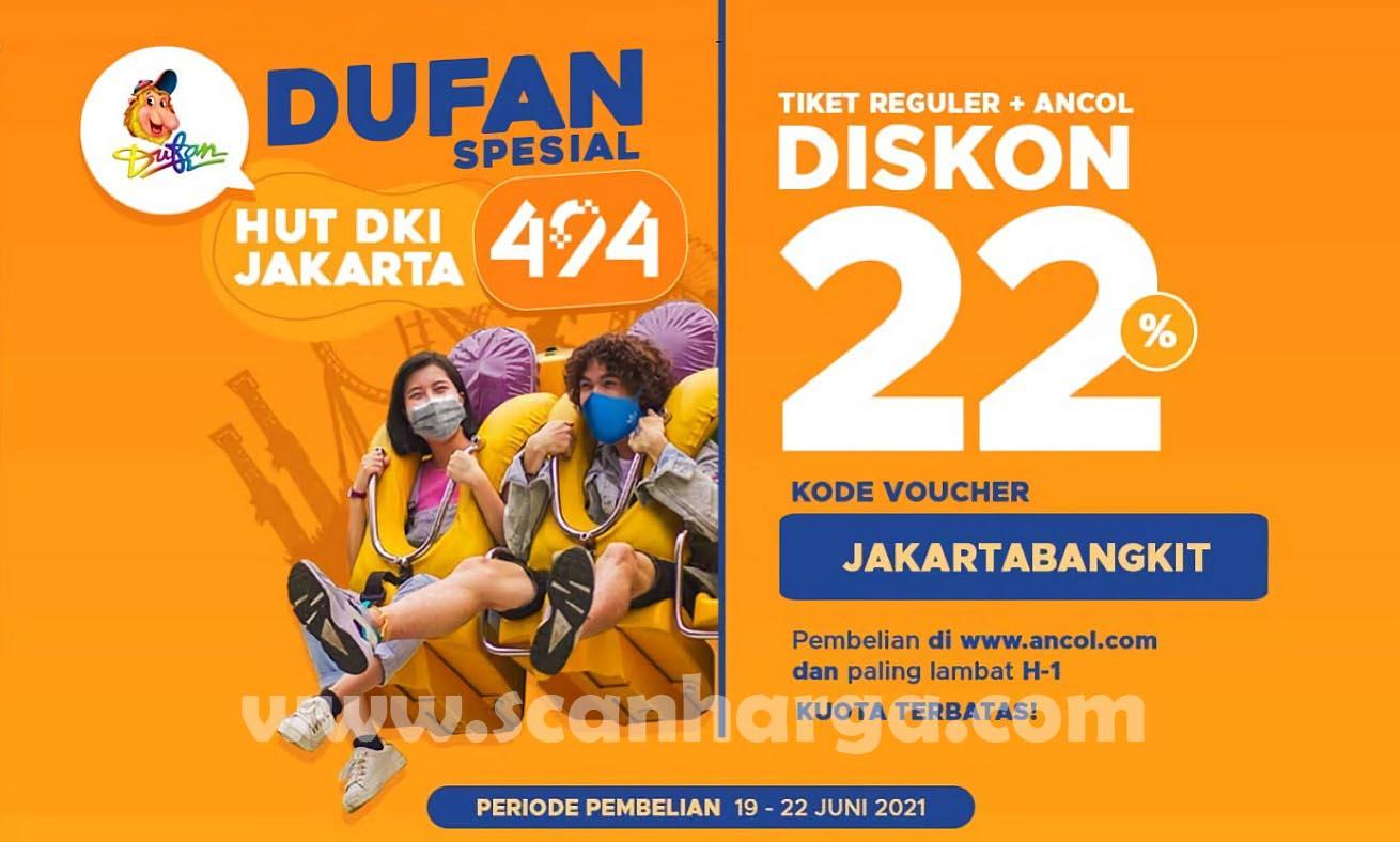 Promo DUFAN HUT DKI JAKARTA 494 - Diskon 22% Tiket Reguler + Ancol