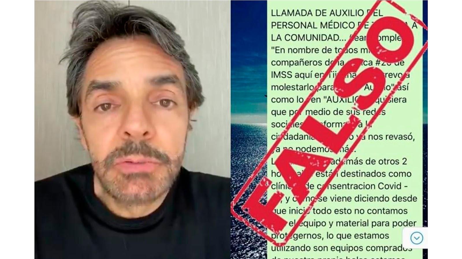 Eugenio Derbez difunde fake news y es desmentido por el IMSS