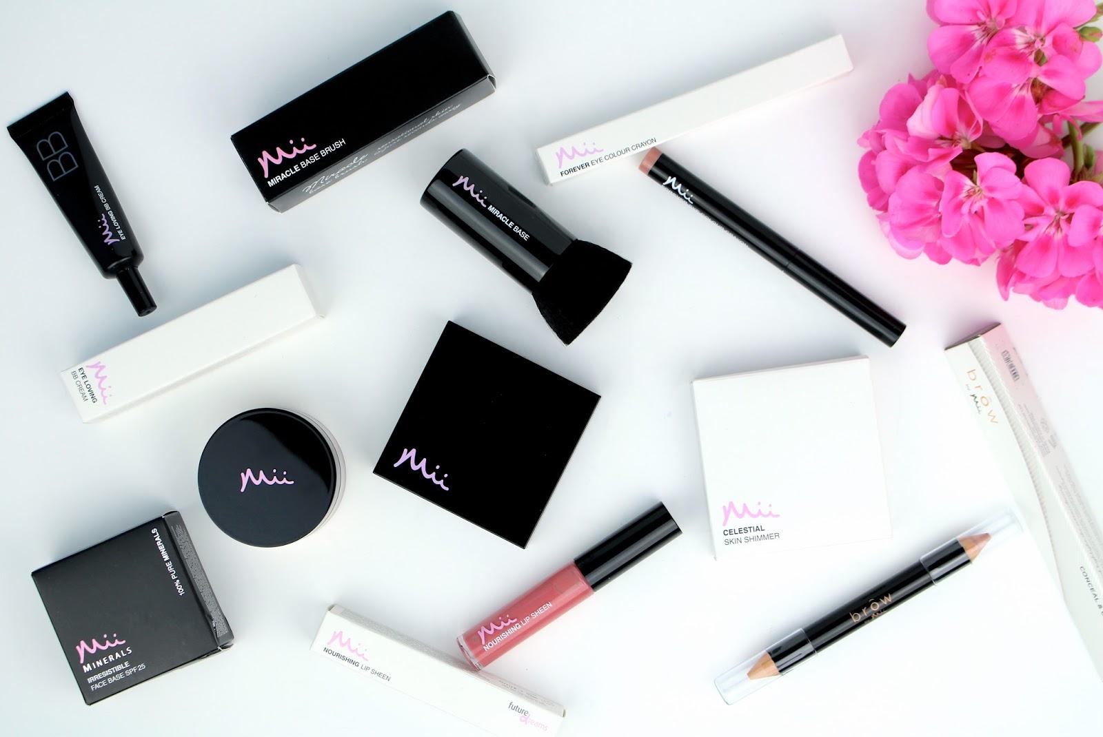 Mii Cosmetics beauty blogger flatlay