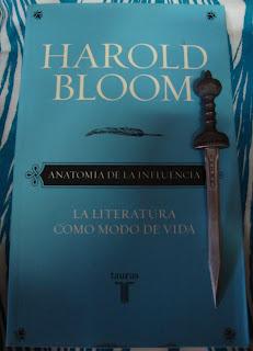 Portada del libro Anatomía de la influencia, de Harold Bloom