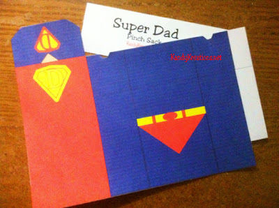 Fathers day Super Dad party favor box printable
