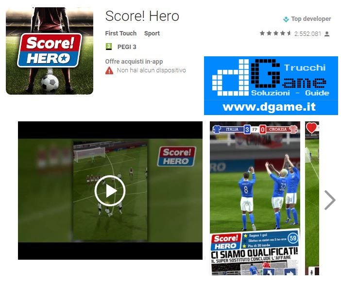 Soluzioni Score! Hero livello 401 - 410 | Trucchi e Walkthrough level