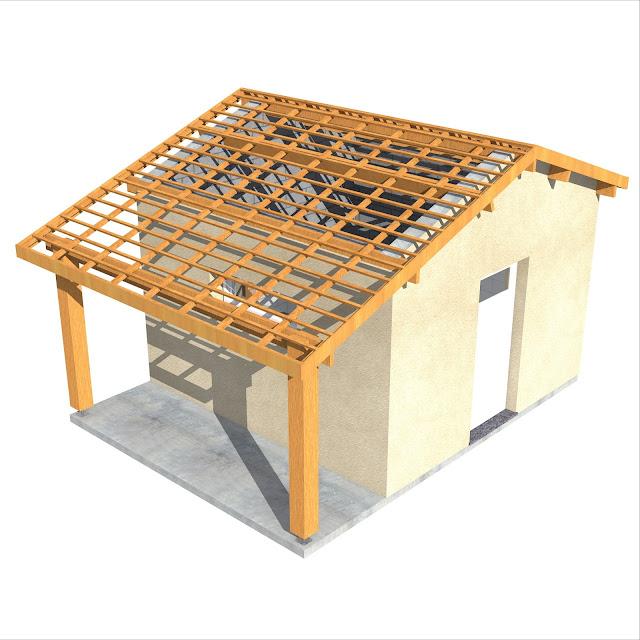 Projet de construction abri de jardin auvent 20m2 for Jardin 20m2