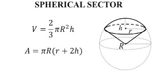 Công thức tính thể tích và diện tích spherical sector Công thức tính thể tích và diện tích spherical sector